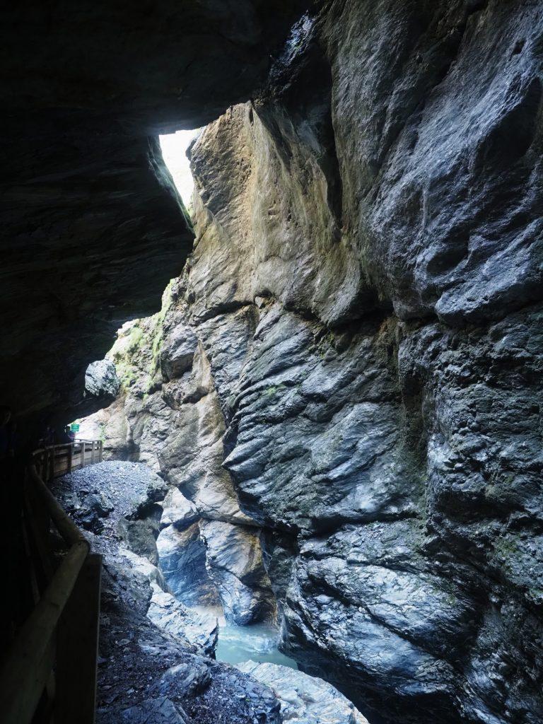 Wandelpad door de Liechtensteinklamm