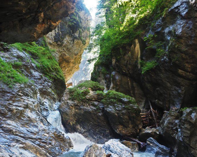 Einde van de Liechtensteinklamm