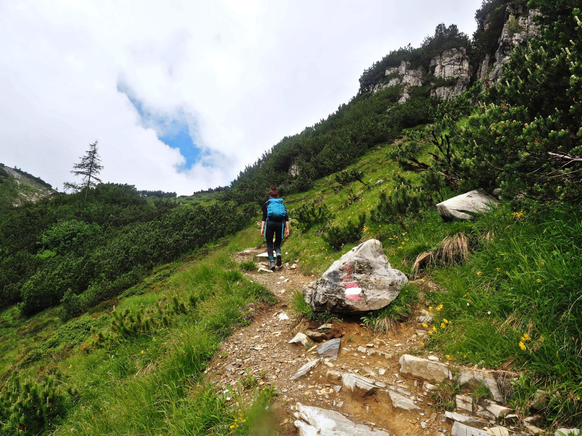 Wandelen met de Osprey Skimmer 20 wandelrugzak review in de Alpen van Oostenrijk