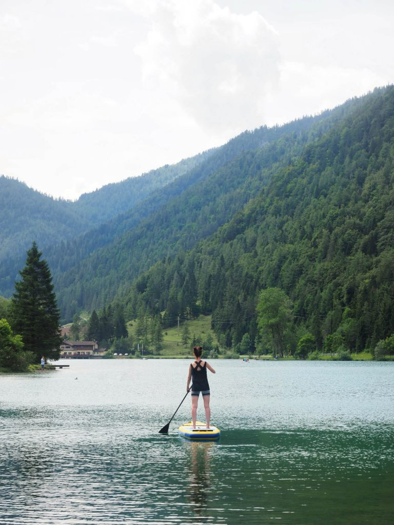 Suppen in de bergen op de Pillersee in Oostenrijk