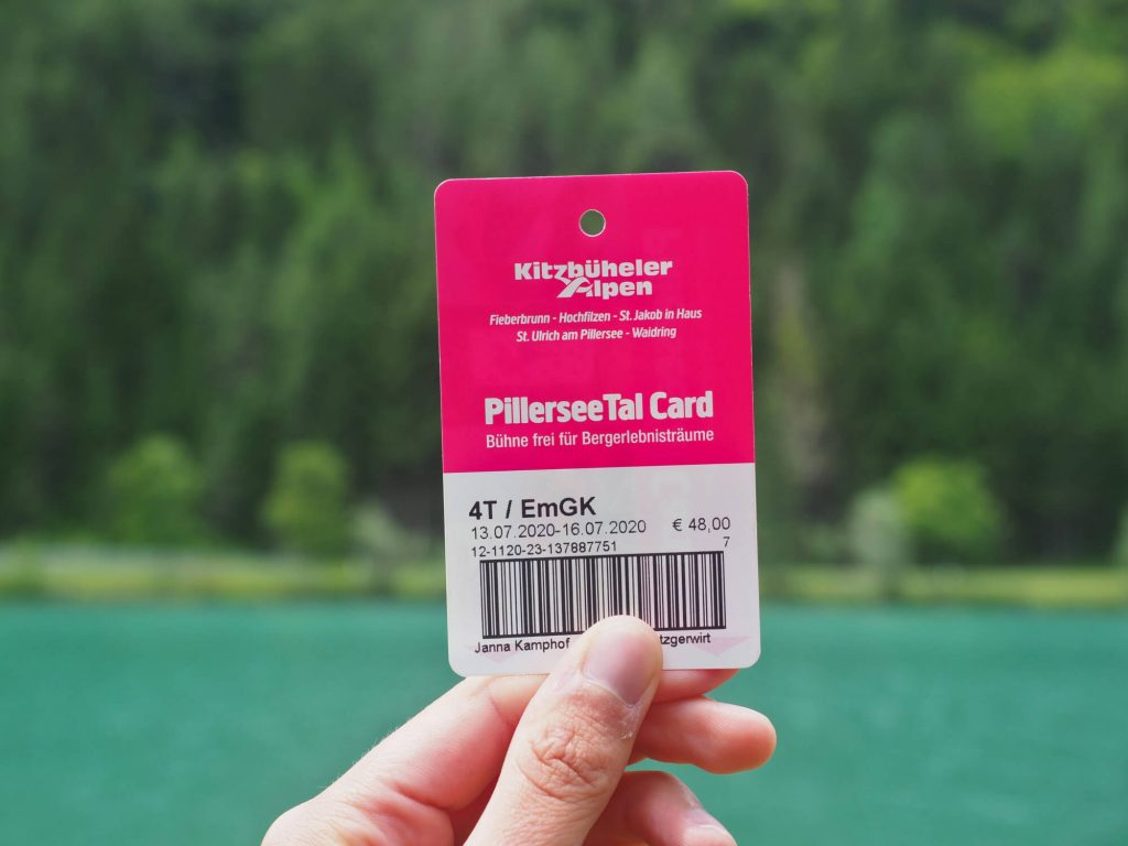 De kortingskaart PillerseeTal Card
