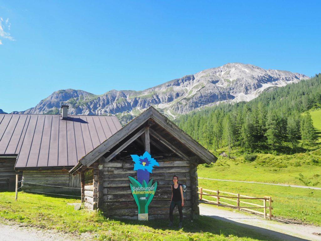 De start van onze huttentocht op de Salzburger Almenweg in Oostenrijk