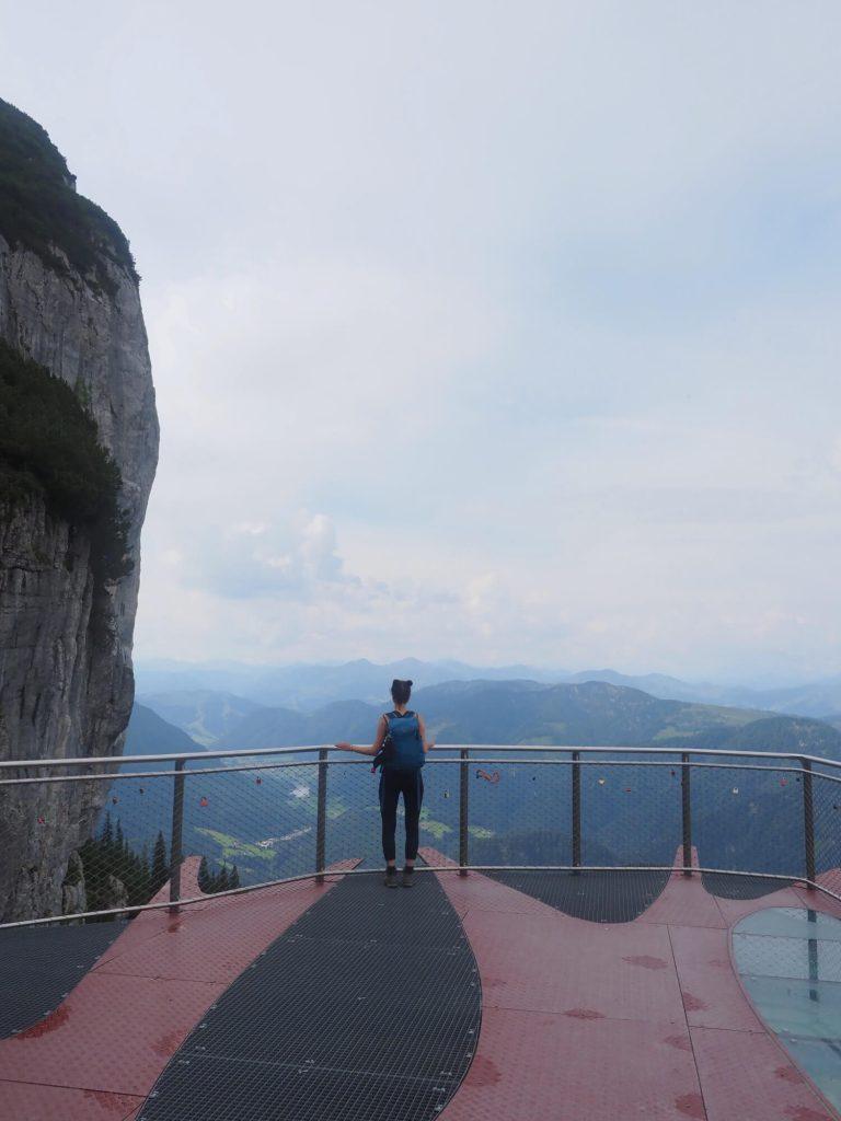 Uitzichtplatform Steinplatte in het PillerseeTal