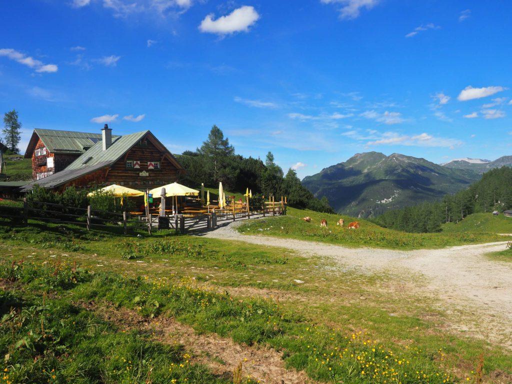 De Südwienerhütte ligt bovenop een berg en heeft daarom een fantastisch uitzicht