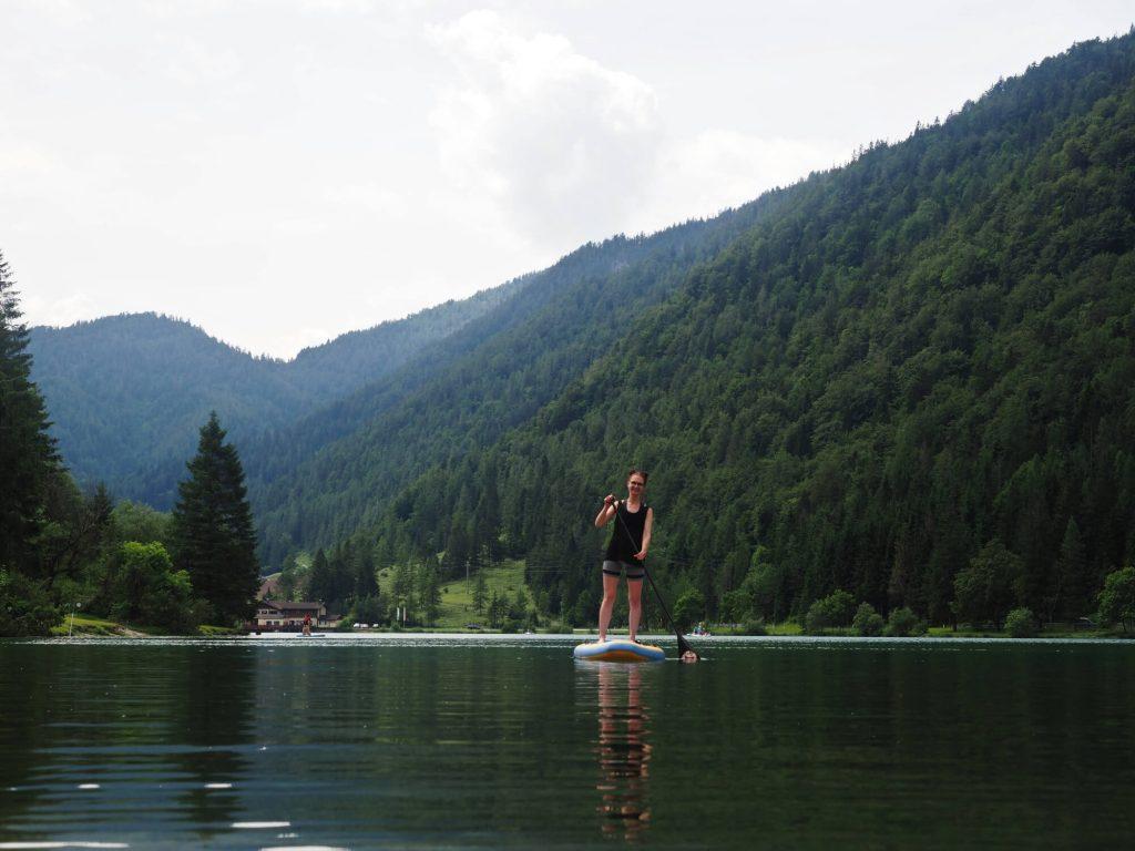 Suppen op de Pillersee in Oostenrijk