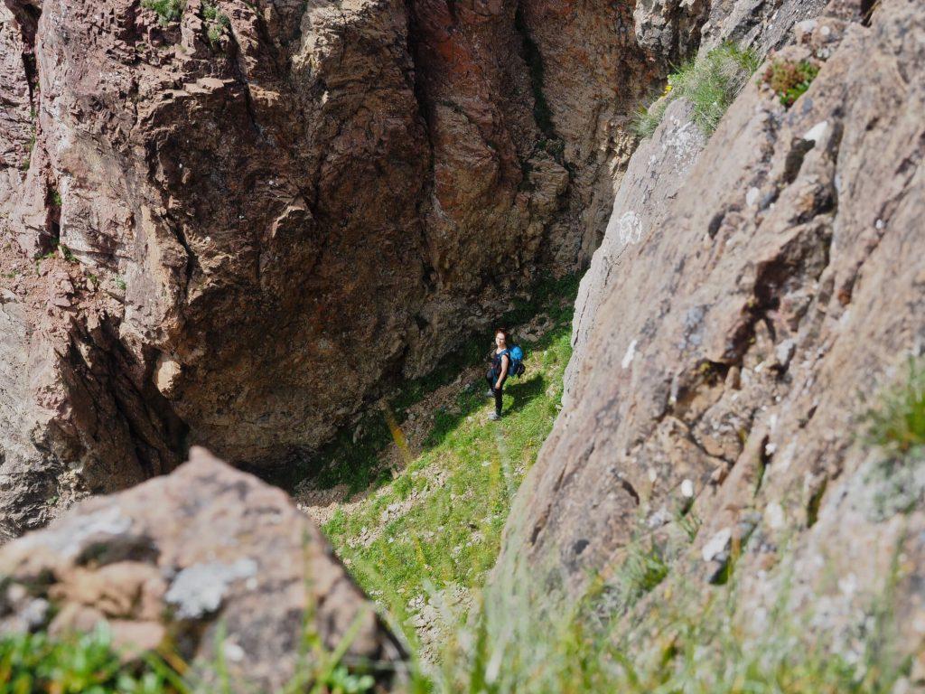 Doorkijkje op de wandelroute naar de Wildseeloder bij Fieberbrunn