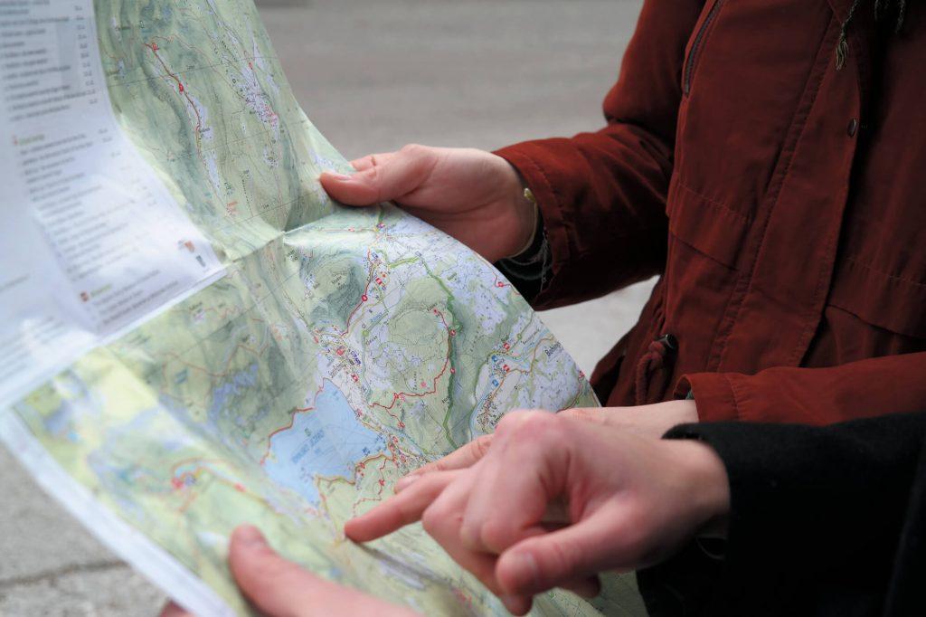 Wandelkaart meer van Bohinj