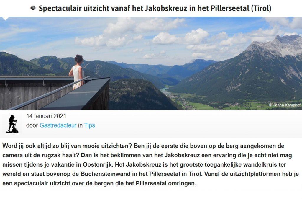 Alpen Actief artikel op Indebergen